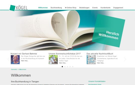 Screenshot www.buchkoegel.de