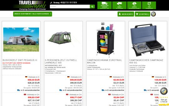 Screenshot www.camping-outdoorshop.de
