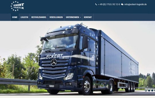 Screenshot www.eckert-logistik.de