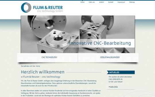 Screenshot www.flum-reuter.de