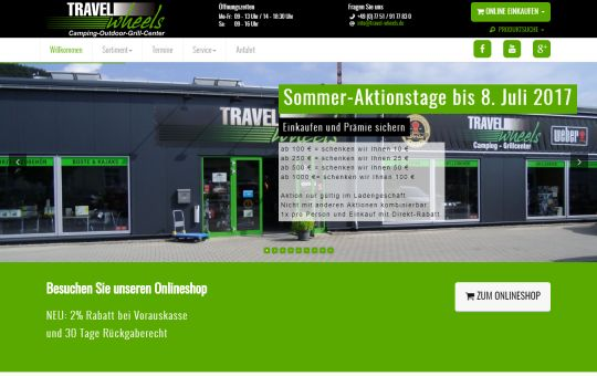 Screenshot www.travel-wheels.de